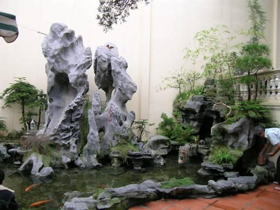 Phương pháp bài trí hòn non bộ và hồ nước trong nhà