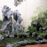 Cách bài trí hòn non bộ và hồ nước trong nhà hợp phong thủy